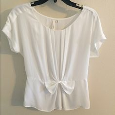White Blouse White blouse with winched waist. Great condition. Gently used. Purchased at Nordstrom Tops Blouses