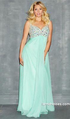 543985e042b 2014 Plus Size Straps Straps Beaded Bodice Prom Dress Chiffon With Chiffon  Skirt
