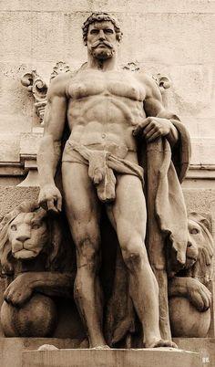 Hercules. Monument to Cadiz parliament of 1812. Cadiz. Spain.