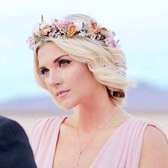 Custom Flower Crown Adjustable with ribbon . Summer wedding Pink and peach flower crown. Floral Crown Wedding, Wedding Hair Flowers, Headpiece Wedding, Bridal Flowers, Bridal Headpieces, Flowers In Hair, Bridal Hair, Wedding Ribbons, Flower Crown Hairstyle