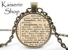 Imagine Dictionary Necklace, Dictionary Pendant, Charm, Jewelry by KaiserinShop on Etsy