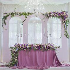 110 отметок «Нравится», 5 комментариев — Светлана Новикова (@semitsvetik_decor) в Instagram: «Настоящим райским уголком на свадьбе Максима и Аллы стал президиум. Задник состоял из тройного…»