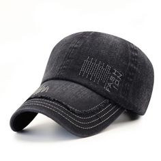 91a9bf72d98 Cowboy Washed Embroidered Letters Sunscreen Cotton Outdoor Baseball Cap  Sunscreen