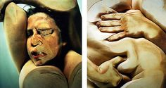 These Jenny Saville photograph details show a woman's body pressed up against glass. Well known for her paintings, Jenny Saville's photographs are just as striking.