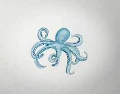 Watercolor Octopus #Watercolor #Octopus