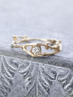 Fairy Diamond Branch Ring | Branch ring, Champagne diamond and ...