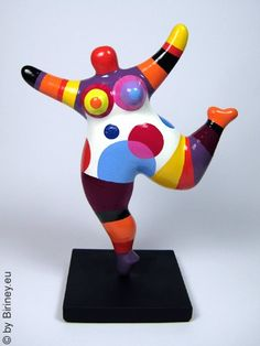 gestreifte Miniatur Nana-Figur 18cm