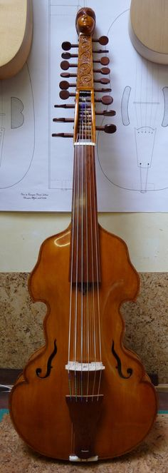 The Violetta All'Inglese by François Nérot (A kind of Viola d'Amour but with 12 sympathetic strings) --- https://www.pinterest.com/lardyfatboy/