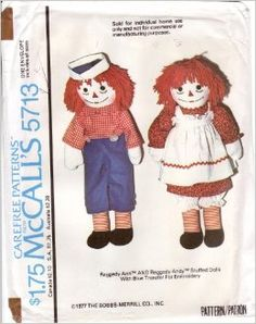 I made the Raggedy Ann in the largest size for Meredith, Christmas 1978. She hated it.