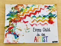 Infant art projects. Infant classroom. Process art. Every child is an artist. Infant Art, Infant Room, Infant Toddler, Baby Artwork, Kids Artwork, Infant Classroom, New Classroom, Preschool Learning Activities, Preschool Activities