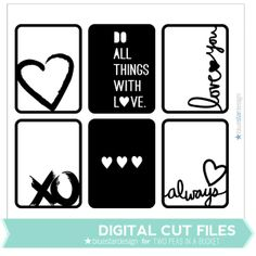Love Cards Cut Files by Blue Star Design by Two Peas @Kari Jones Jones Jones Jones alissa Peas in a Bucket