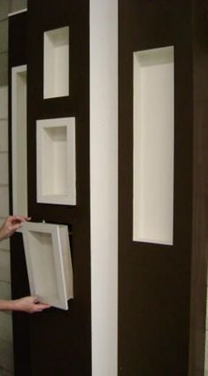 Built In Shelves, Wall Shelves, Shelving, Wall Niches, Prefab Walls, Drywall, Diy Casa, Interior Design Living Room, Home Projects