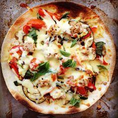 tuna mediterranean vegetable pizza