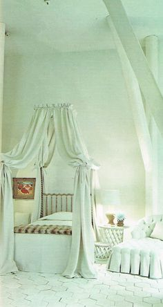 all white Michael Taylor room