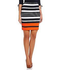 MICHAEL Michael Kors Helsink Striped Ponte Pencil Skirt #Dillards