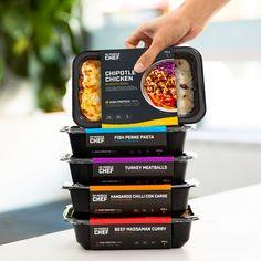 Food Box Packaging, Food Packaging Design, Packaging Design Inspiration, Best Meal Delivery, Meal Delivery Service, Delivery Comida, Beef Massaman, Snacks Saludables, Frozen Meals
