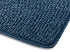 1A Sisal-Teppich Sylt | Blau | Gekettelt | 200x300 cm