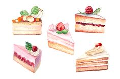 watercolor cakes collection - Illustrations - 2