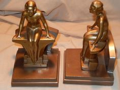 NUART-FRANKART-RONSON-Style-Art-Deco-period-Nude-Bookends-Pair