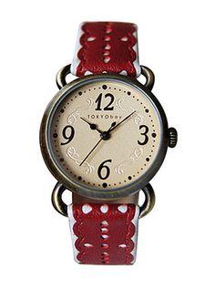 Red Doily-icious Wrist Watch | PLASTICLAND $74.00