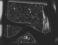 I watch the stars from my windowsill, the whole world is moving but I'm standing still