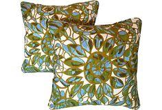 1960s Floral Pillows, Pair on OneKingsLane.com