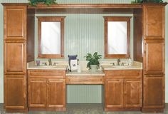 Spice Maple bathroom vanity. This is the color range I am thinking might work for the dressing area & master bath.