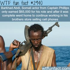 Barkhad Abdi, the somalian actor from Captain Philips - WTF fun facts Wtf Fun Facts, True Facts, Funny Facts, Random Facts, Random Trivia, Crazy Facts, Random Things, Random Stuff, Unusual Facts