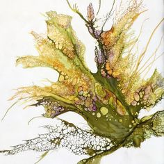 Alicia Tormey's organic botanical style. Encaustic w/mixed media.