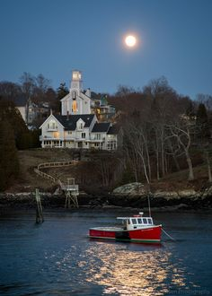 Rockport Moon - Maine   It's hard to believe it was nearly 50 degrees tonight. It felt so good to be outside, but part of me was wishing for snow and cold. Am I crazy? Yes. I feel grateful to have witnessed this beauty, regardless.