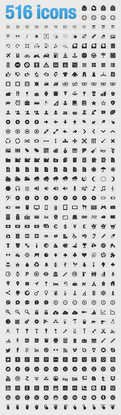 Beautiful web icons - En PNG, AI, CSS sprite et webfont...