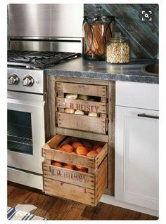 Kitchen taters & onion bin