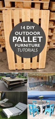 14 DIY Outdoor Pallet Furniture Tutorials
