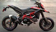 Custom black Ducati Hypermotard SP