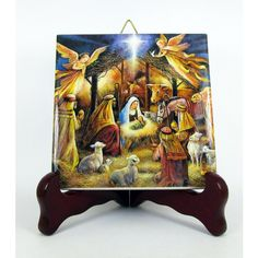 Religious gifts Nativity of Jesus, Holy Family, collectible ceramic... (18 BGN) via Polyvore featuring gift