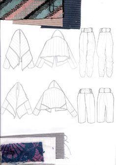 Fashion Sketchbook - fashion design drawings & textile swatches; fashion portfolio // Beryl Otieno