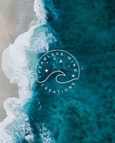 Creative Logo, Web Design Studio, Web Studio, Deco Surf, Sea Logo, Inspiration Logo Design, Waves Logo, Artist Logo, Watercolor Logo