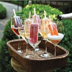 Alcoholic Popsicle Recipes: How to Make Popsicle Margaritas, Cocktails, and More @Megan Ward Hall 4th. Of. July.