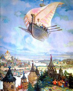 Иллюстрации к русским сказкам Николая Кочергина (1897—1974): philologist