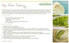 Zesty lime and creamy custard. Top Key Lime Tarts with whipped cream for a summery treat! #kneaders