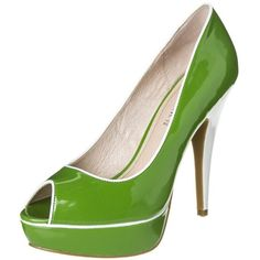CAFèNOIR Peeptoe heels ($93) ❤ liked on Polyvore featuring shoes, heels, green, women's footwear, peeptoe shoes, synthetic shoes, leather shoes, cafènoir and genuine leather shoes