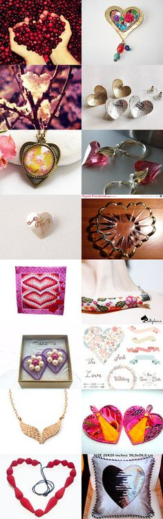 Valentines ♡ Hearts ♡ Inspirations! ♡  by Julia Apostolova on Etsy--Pinned with TreasuryPin.com