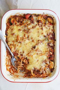 """Bacon and Beef Pasta Bake by kaer - """"This is a fantastic recipe, cheap, easy and the whole family loved it."""" - kyliejw"""