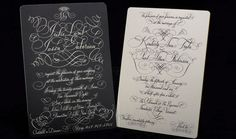 oh, the joy in receiving a hand-written invitation by the master bernard maisner/nyc