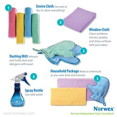 Norwex top microfiber products. For Facebook parties, online events and marketing.