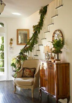 Festive Holiday Staircases and Entryways   Traditional Home