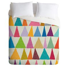 DENY Designs Nick Nelson Analogous Shapes in Bloom Duvet Cover Collection