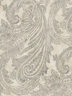 Find wallpaper close-out sale pricing for popular wallpaper patterns online courtesy of Wallpaper Warehouse. Wallpaper Stores, Wallpaper Online, Home Wallpaper, Fabric Wallpaper, Pattern Wallpaper, Gold Paisley Wallpaper, Paisley Art, Textiles, Wallpaper Warehouse