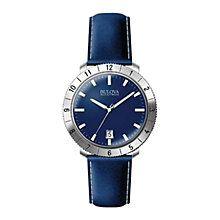 Buy Bulova 96b204 Men's Accutron Leather Strap Watch, Blue Online at johnlewis.com