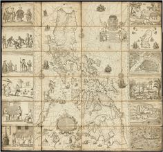 Philippines to submit map to UN in case vs China - Murillo Velarde Map Manila, Philippine Map, Jose Rizal, Baybayin, Maputo, Cultural Studies, Old Maps, History Museum, Plans